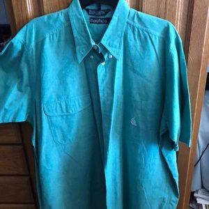Like new Nautica Men's Half Sleeve shirt